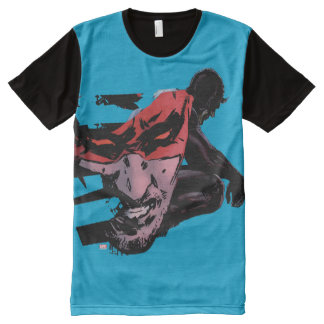 Daredevil Face Silhouette All-Over Print T-Shirt