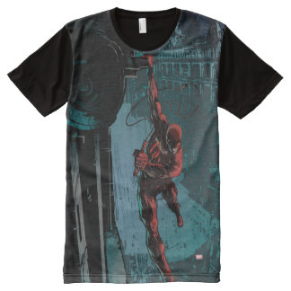 Daredevil Hanging From A Ledge All-Over Print T-Shirt