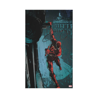 Daredevil Hanging From A Ledge Canvas Print