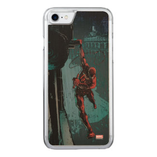 Daredevil Hanging From A Ledge Carved iPhone 7 Case