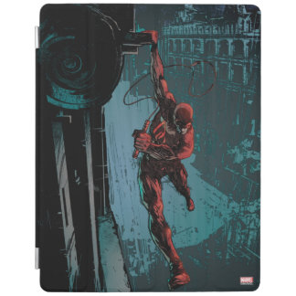 Daredevil Hanging From A Ledge iPad Cover