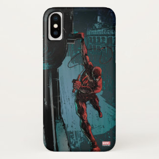 Daredevil Hanging From A Ledge iPhone X Case