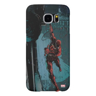 Daredevil Hanging From A Ledge Samsung Galaxy S6 Cases