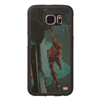 Daredevil Hanging From A Ledge Wood Phone Case