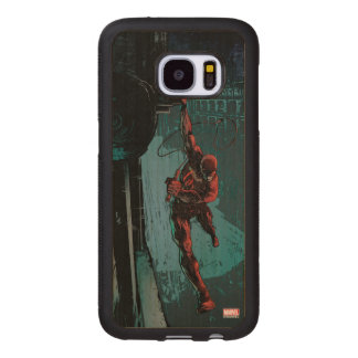 Daredevil Hanging From A Ledge Wood Samsung Galaxy S7 Case