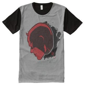 Daredevil Head Profile All-Over Print T-Shirt