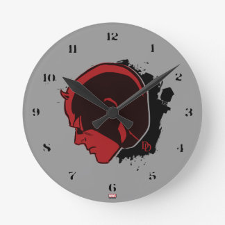Daredevil Head Profile Round Clock