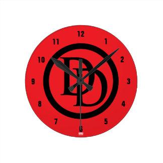 Daredevil Logo Round Clock