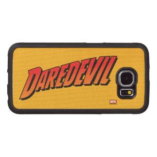 Daredevil Name Logo Wood Phone Case
