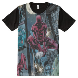 Daredevil Running Through The City All-Over Print T-Shirt