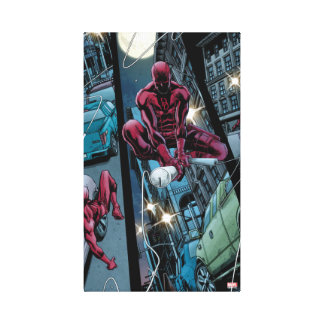 Daredevil Running Through The City Canvas Print