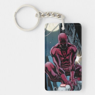 Daredevil Running Through The City Key Ring