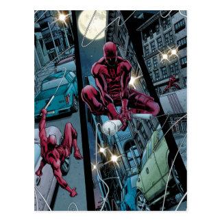 Daredevil Running Through The City Postcard