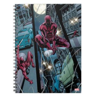 Daredevil Running Through The City Spiral Notebook