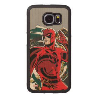 Daredevil Sensory Swirl Wood Phone Case