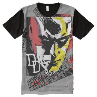 Daredevil Tri-Color Scaffolding Graphic All-Over Print T-Shirt