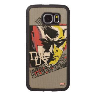 Daredevil Tri-Color Scaffolding Graphic Wood Phone Case