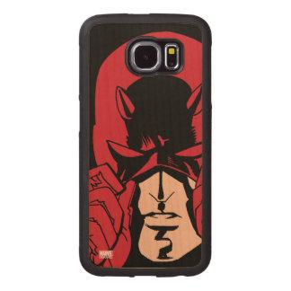 Daredevil's Mask Wood Phone Case