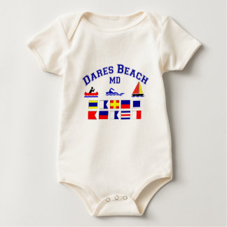 Dares Beach MD Signal Flags Baby Bodysuit