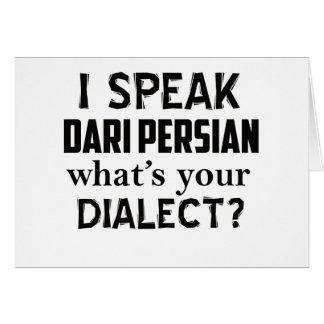 Dari Persian Afghanistan dialect design Card