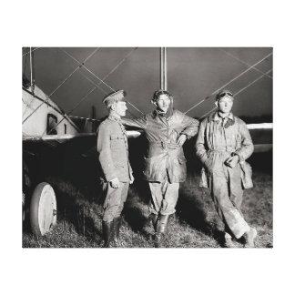 Daring Aviators 1919 Stretched Canvas Print
