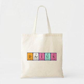 Darius periodic table name tote bag
