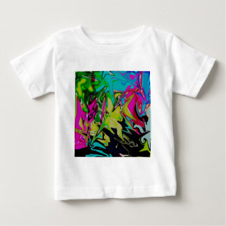 Dark Abstract Molten Color Drip Baby T-Shirt
