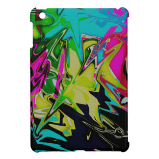 Dark Abstract Molten Color Drip iPad Mini Cases