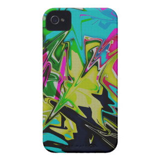 Dark Abstract Molten Color Drip iPhone 4 Covers