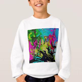 Dark Abstract Molten Color Drip Sweatshirt