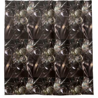 Dark Abstract shower curtain