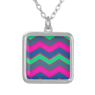 Dark and Bold Zigzags Silver Plated Necklace
