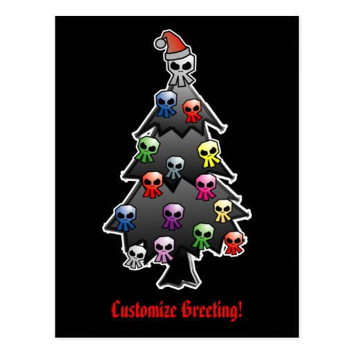 Dark and Gothic Holiday Greeting Postcards