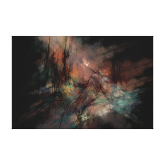 Dark and Gritty Abstract Black Clouds Canvas Print