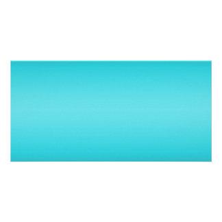 Dark and Light Aqua Blue Gradient - Turquoise Card