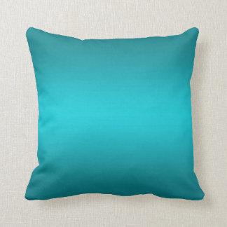 Dark and Light Aqua Blue Gradient - Turquoise Cushion