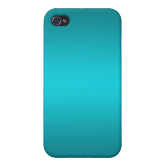 Dark and Light Aqua Blue Gradient - Turquoise iPhone 4 Covers