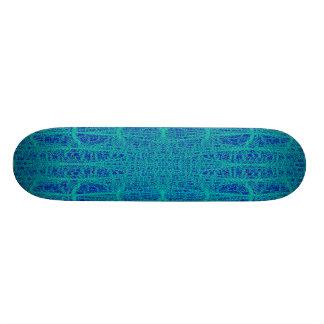 Dark and Light Blue Geometric Pattern Shapes Skate Board Decks