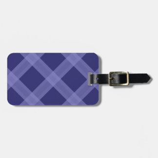 Dark And Light Blue Plaid Pattern  Luggage Tag