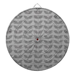 Dark and Light Gray Retro Leaf Pattern Dartboards
