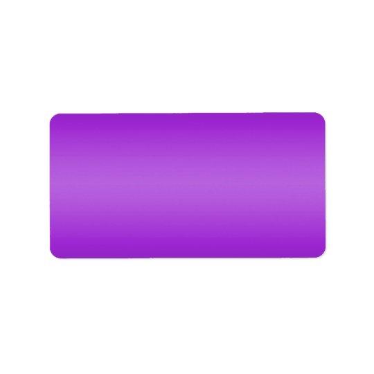 Dark and Light Purple Gradient - Violet Template Address Label