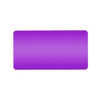 Dark and Light Purple Gradient - Violet Template Label
