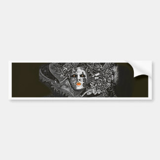 Dark and spooky Venetian mask Bumper Stickers