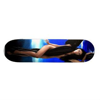 Dark angel,goddess divine, shaman woman, shakti by skateboard