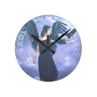 Dark Angel Round Clock
