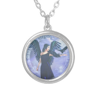Dark Angel Silver Plated Necklace