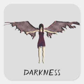 dark angel square sticker
