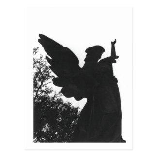 Dark Angel Statue Old Cemetery Postcard