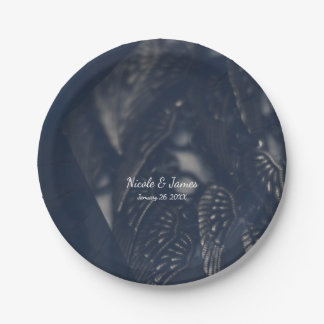 Dark Angel Wings Gothic Glam Chic Party Paper Plate