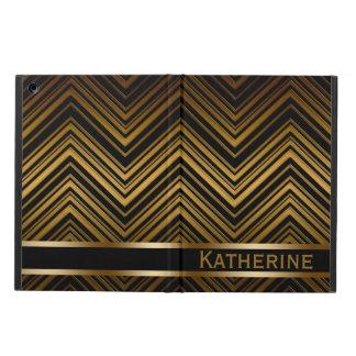 Dark Antique Gold Chevron Pattern iPad Air Case